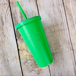 Starbucks Limited Edition Neon Green Tumbler